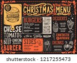 christmas menu template for... | Shutterstock .eps vector #1217255473