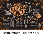 christmas menu template for... | Shutterstock .eps vector #1217255479