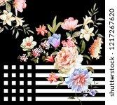 silk scarf design  fashion... | Shutterstock . vector #1217267620