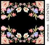 silk scarf design  fashion... | Shutterstock . vector #1217267623
