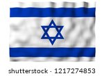 the flag of israel. state... | Shutterstock . vector #1217274853