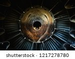 background of an old jet engine ... | Shutterstock . vector #1217278780