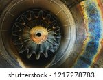 background of an old jet engine ... | Shutterstock . vector #1217278783