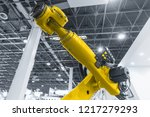automatic robot arm working in... | Shutterstock . vector #1217279293