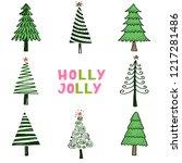 hand drawn illustration of... | Shutterstock .eps vector #1217281486