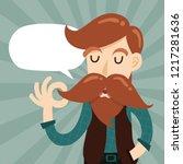 cute gentleman hipster cartoon... | Shutterstock .eps vector #1217281636