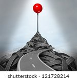 achieving your goals and... | Shutterstock . vector #121728214