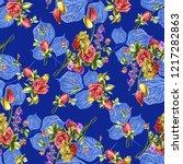 beautiful flower bunch with... | Shutterstock . vector #1217282863