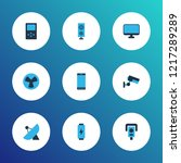 hardware icons colored set with ... | Shutterstock .eps vector #1217289289