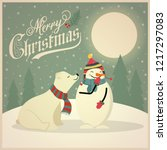 beautiful retro christmas card... | Shutterstock .eps vector #1217297083