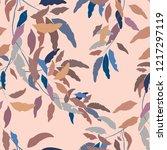 willow leaves seamless pattern | Shutterstock .eps vector #1217297119