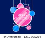 merry christmas. holiday... | Shutterstock .eps vector #1217306296