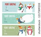 cute flat design christmas... | Shutterstock .eps vector #1217309233