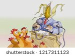 politician  with the head to... | Shutterstock . vector #1217311123