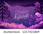 vector illustration in trendy... | Shutterstock .eps vector #1217321869