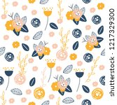 floral seamless pattern.... | Shutterstock .eps vector #1217329300