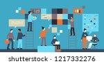 vector illustration in flat...   Shutterstock .eps vector #1217332276