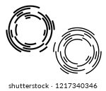 design elements. curved many... | Shutterstock .eps vector #1217340346