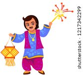 diwali holiday celebration and... | Shutterstock .eps vector #1217342299
