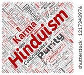 vector conceptual hinduism ... | Shutterstock .eps vector #1217343976