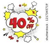comic lettering 40  off sale ... | Shutterstock .eps vector #1217345719