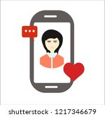 mobile vector icon | Shutterstock .eps vector #1217346679