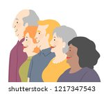 illustration of a group of... | Shutterstock .eps vector #1217347543