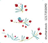 seamless christmas pattern with ... | Shutterstock .eps vector #1217353090