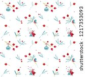 seamless christmas pattern with ... | Shutterstock .eps vector #1217353093