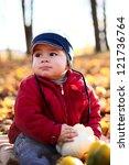 cute little boy with ripe...