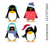 vector set of penguin... | Shutterstock .eps vector #1217371663