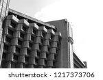 Abandoned former hotel in Krakow, Poland. Amazing modernist building of late communism