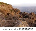 coast of the mediterranean sea... | Shutterstock . vector #1217378356