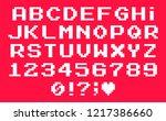 set of vector letters in retro... | Shutterstock .eps vector #1217386660