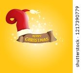 vector red santa hat with...   Shutterstock .eps vector #1217390779