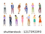 pain types of people with... | Shutterstock .eps vector #1217392393