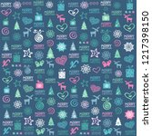 christmas holiday background.... | Shutterstock .eps vector #1217398150