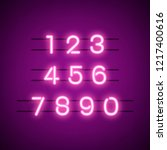number 0 9 numeral system vector   Shutterstock .eps vector #1217400616