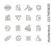 reject related icons  thin... | Shutterstock .eps vector #1217403820