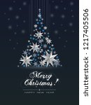 christmas greeting card  with ... | Shutterstock .eps vector #1217405506