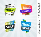 set of sale banners and labels. ... | Shutterstock .eps vector #1217406163