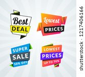 set of sale banners and labels. ... | Shutterstock .eps vector #1217406166