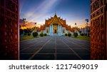 wat benchamabophit  marble... | Shutterstock . vector #1217409019