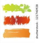 colorful grunge banners | Shutterstock .eps vector #121740928