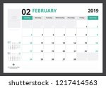 2019 calendar planner corporate ... | Shutterstock .eps vector #1217414563