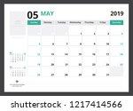2019 calendar planner corporate ... | Shutterstock .eps vector #1217414566