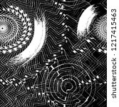 geometric abstract grunge... | Shutterstock .eps vector #1217415463