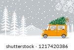 senior couple riding the car...   Shutterstock .eps vector #1217420386