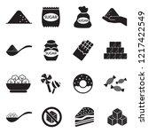 sugar icons. black flat design. ... | Shutterstock .eps vector #1217422549