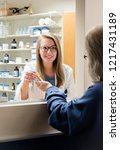 woman pharmacist working at... | Shutterstock . vector #1217431189